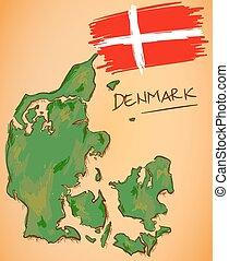 χάρτηs , εθνικός , μικροβιοφορέας , σημαία , δανία