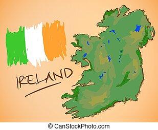 χάρτηs , εθνικός , μικροβιοφορέας , σημαία , ιρλανδία
