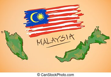 χάρτηs , εθνικός , μικροβιοφορέας , σημαία , μαλαισία