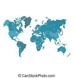 χάρτηs , εικόνα , χέρι , μικροβιοφορέας , μετοχή του draw , world.
