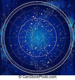 χάρτηs , θείος , ουρανόs , νύκτα