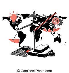 χάρτηs , κόσμοs , infographics, αρμοδιότητα απεικόνιση