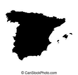 χάρτηs , μαύρο , ισπανία