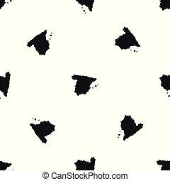 χάρτηs , μαύρο , seamless, ισπανία , πρότυπο