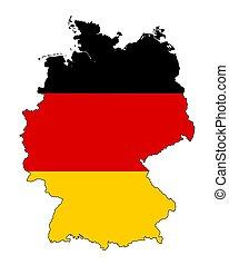 χάρτηs , μικροβιοφορέας , γερμανία , περίγραμμα , flag.