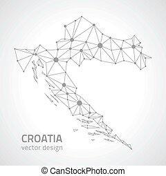 χάρτηs , μικροβιοφορέας , κροατία , γκρί , περίγραμμα