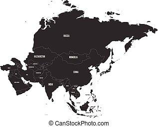 χάρτηs , μικροβιοφορέας , πολιτικός , illustration., asia.