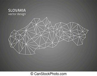 χάρτηs , μικροβιοφορέας , slovakia , περίγραμμα , γκρί