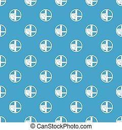 χάρτηs , πλεύση , πρότυπο , seamless, μπλε