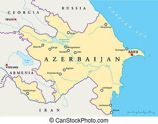 χάρτηs , πολιτικός , αζερμπαϊτζάν