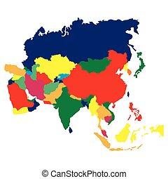 χάρτηs , πολιτικός , ασία