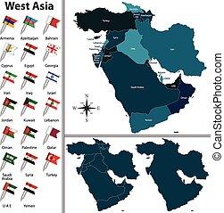 χάρτηs , πολιτικός , ασία , δύση