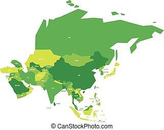 χάρτηs , πολύ , πολιτικός , ασία , μικροβιοφορέας , απλοποιώ , infographical