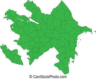χάρτηs , πράσινο , αζερμπαϊτζάν