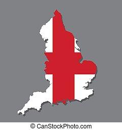 χάρτηs , σημαία , αγγλία , γκρί , φόντο