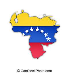 χάρτηs , σημαία , βενεζουέλα