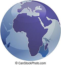 χάρτηs , σφαίρα , αφρική , εικόνα