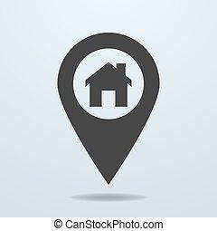 χάρτηs , σύμβολο , δείκτης , σπίτι