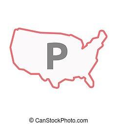 χάρτηs , τέχνη , η π α , απομονωμένος , p , γράμμα , γραμμή