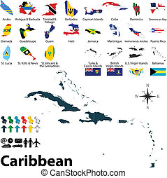 χάρτηs , caribbean , πολιτικός