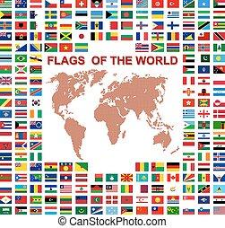 χάρτηs , illustra , φόντο. , μικροβιοφορέας , σημαίες ,...
