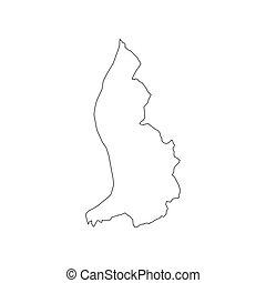 χάρτηs , liechtenstein , περίγραμμα