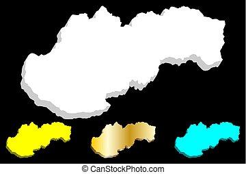 χάρτηs , slovakia , 3d