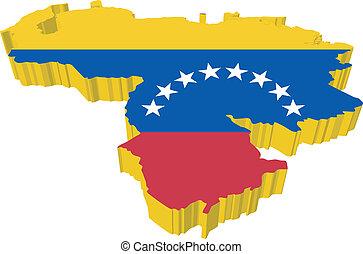 χάρτηs , vectors, βενεζουέλα , 3d