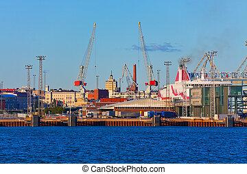 χέλσινκι , φινλανδία , θαλάσσιο λιμάνι