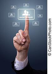 χέρι , αντίτυπο δίσκου , δίκτυο , εικόνα , κοινωνικός