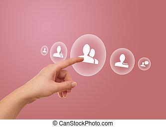 χέρι , αντίτυπο δίσκου , κοινωνικός , δίκτυο , εικόνα