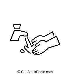 χέρι , εικόνα , νερό , πλύση , τρυπώ