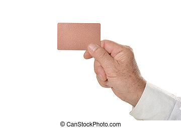 χέρι , κάρτα , κενό