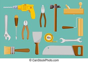 χέρι , μικροβιοφορέας , εικόνα , θέτω , δομή , συλλογή , tools.