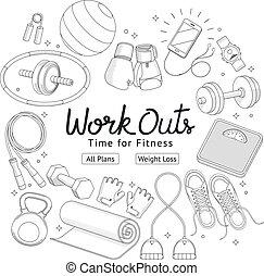 χέρι , μικροβιοφορέας , καταλληλότητα , μετοχή του draw , workouts , style., illustrations.