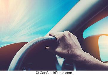 χέρι , οδήγηση , αυτοκίνητο