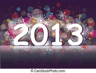 χίλια , (two, thirteen)., έτος , καινούργιος , 2013