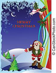 χαιρετισμός αγγελία , για , xριστούγεννα , και , ha
