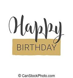 χαιρετισμός , handwritten , card., ευτυχισμένος , γράμματα , birthday.