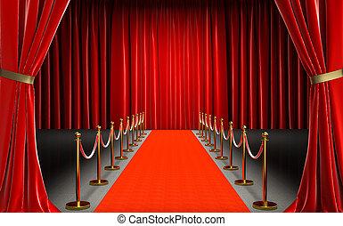 χαλί , κινηματογράφοs , είσοδοs , κόκκινο