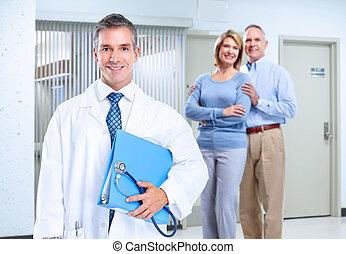 χαμογελαστά , ιατρικός ακάνθουρος , άντραs , και , family.