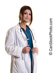 χαμογελαστά , κυρία , ελκυστικός , γιατρός