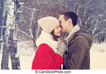 χαμογελαστά , love., ζευγάρι , ευτυχισμένος