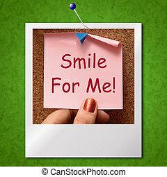 χαμόγελο , για , εμένα , φωτογραφία , μέσα , γίνομαι , ευτυχισμένος , ιλαρός