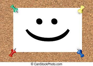 χαμόγελο , πίνακας , φελλός