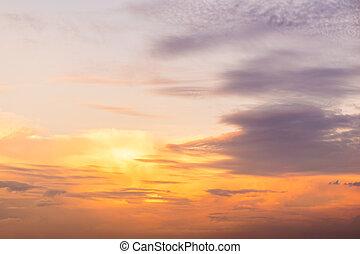 χαράζω , ουρανόs , ανατολή , σύνεφο , ανάμεσα
