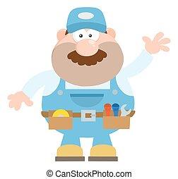 χαρακτήρας , γελοιογραφία , μηχανικός