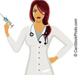 χαρακτήρας , γυναίκα γιατρός