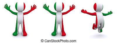 χαρακτήρας , σημαία , 3d , ιταλία , textured