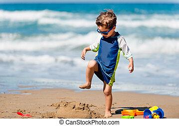 χαριτωμένος , άμμοs , κατεδαφιστικά , κάστρο , αγόρι